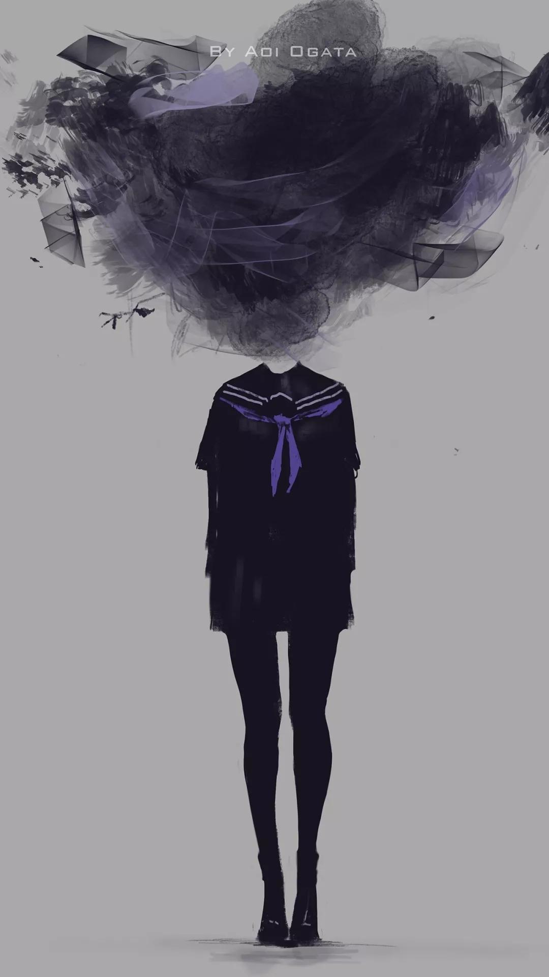 丧丧的壁纸,黑暗系的认识一下
