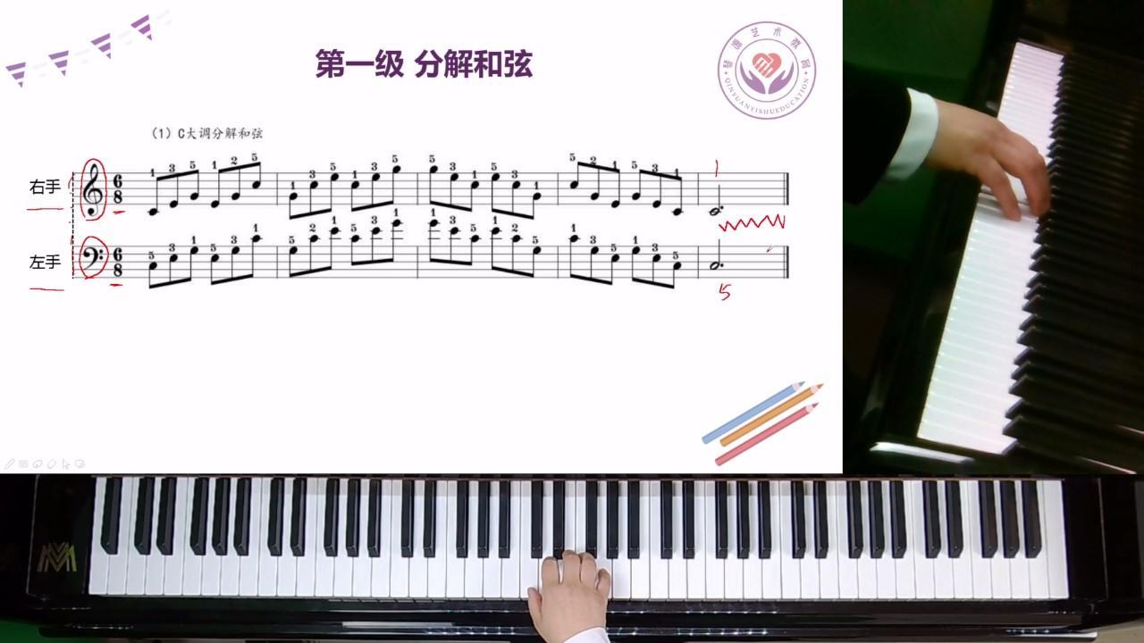 CourseMaker优秀微课展播:《PPT和多路视频拍摄微课——钢琴教学:分解和弦》