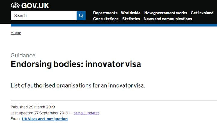 英国Innovator签证担保机构增加,移民英国机会更多了吗?
