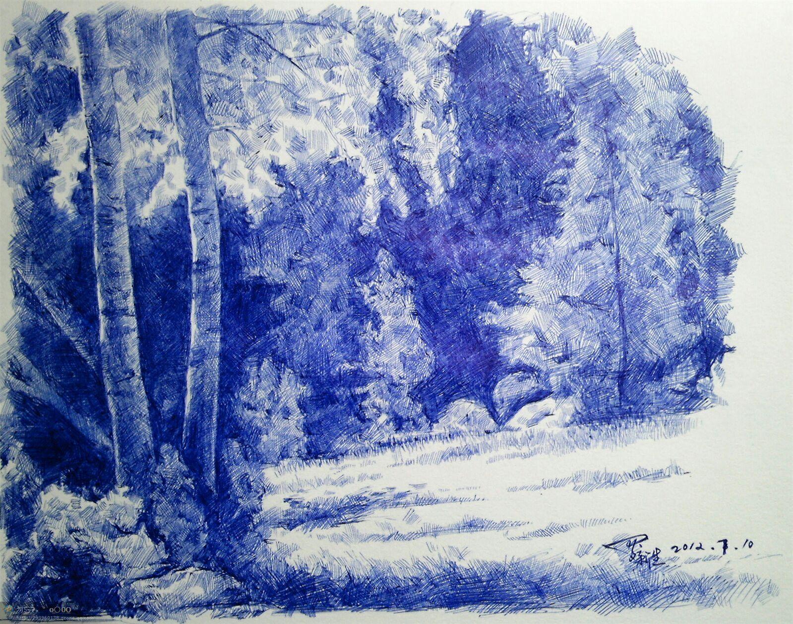 一些铅笔风景素描画_想画好圆珠笔画,希望大家能帮忙提点建议? - 知乎