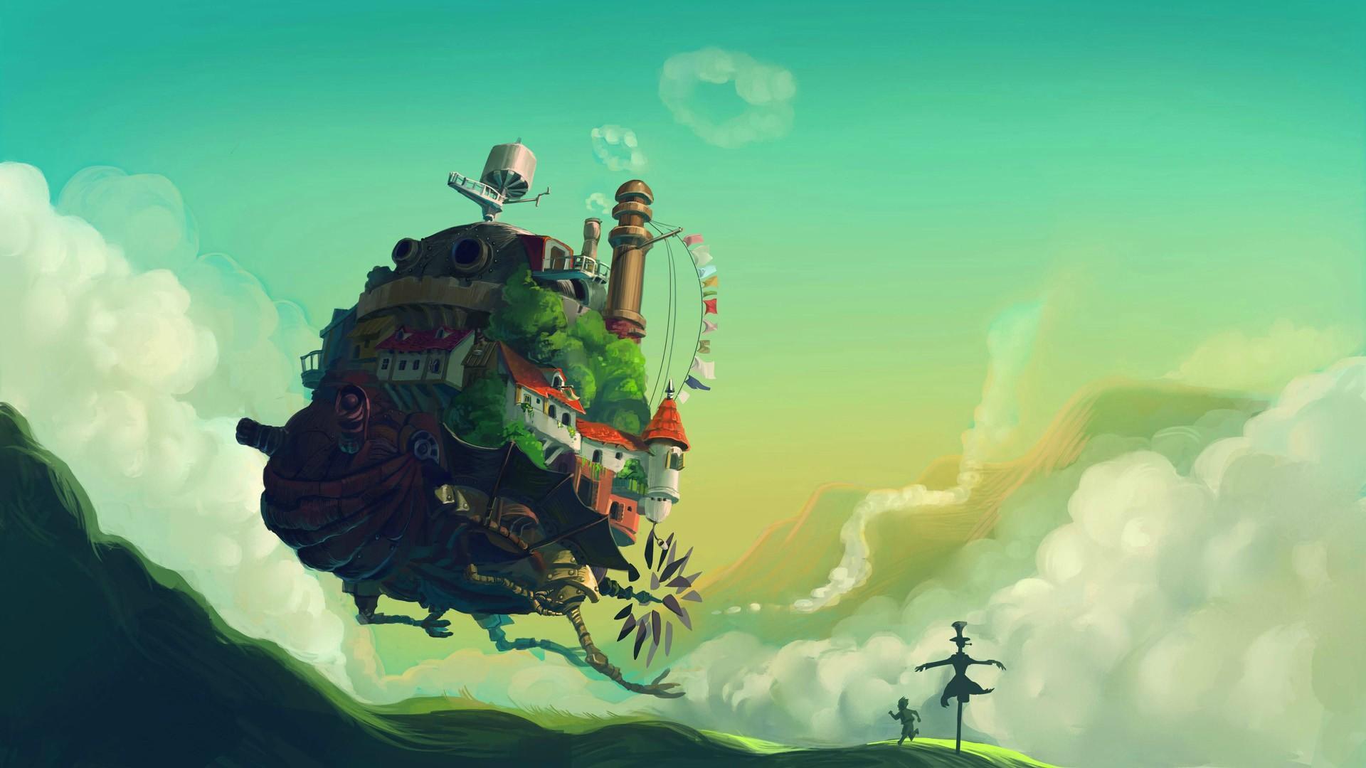 宫崎骏作品 哈尔的移动城堡 影视原画壁纸鉴赏 搜优图片网图片