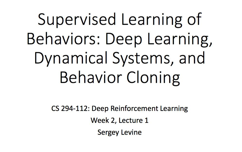 CS 294: Deep Reinforcement Learning Note(1)