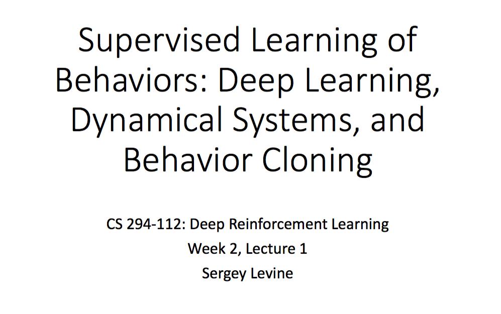 CS 294: Deep Reinforcement Learning Note(1)