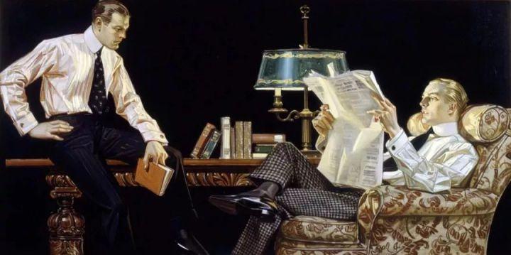 上世纪美国著名插画师J.C. Leyendecker   摩登男女&The Arrow的缔造者
