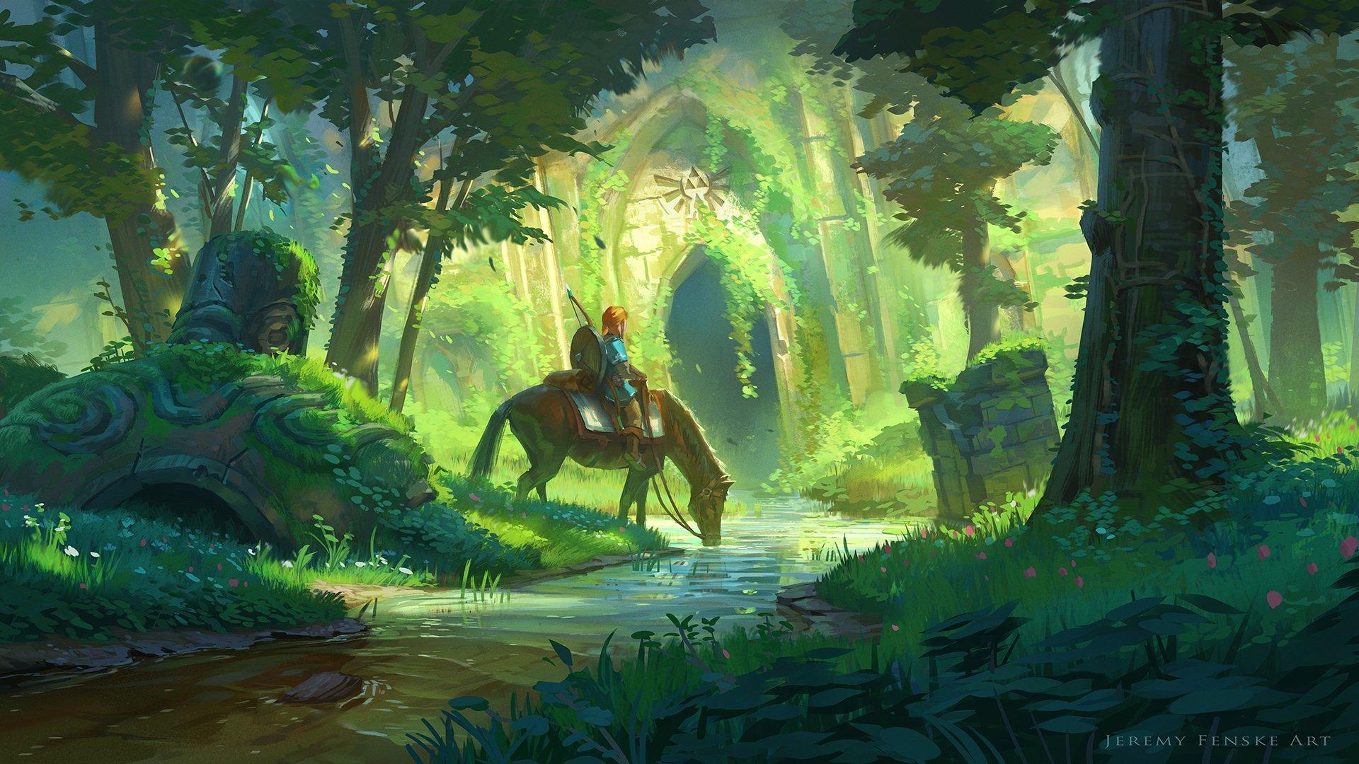 有没有《塞尔达传说:旷野之息》的高清壁纸?