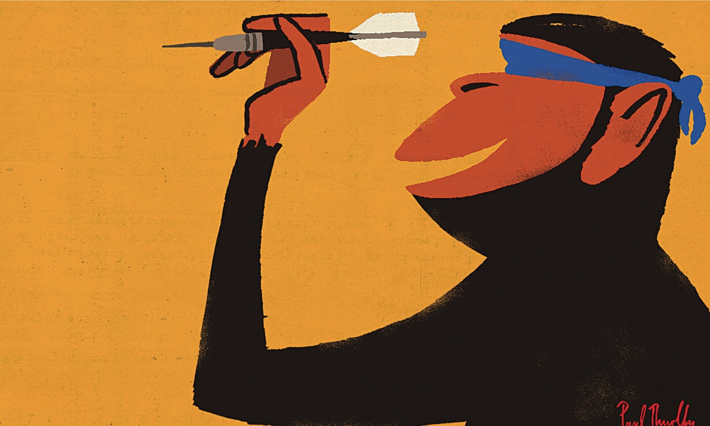 把猴子的眼睛蒙起来扔飞镖选股,确实可以战胜市场
