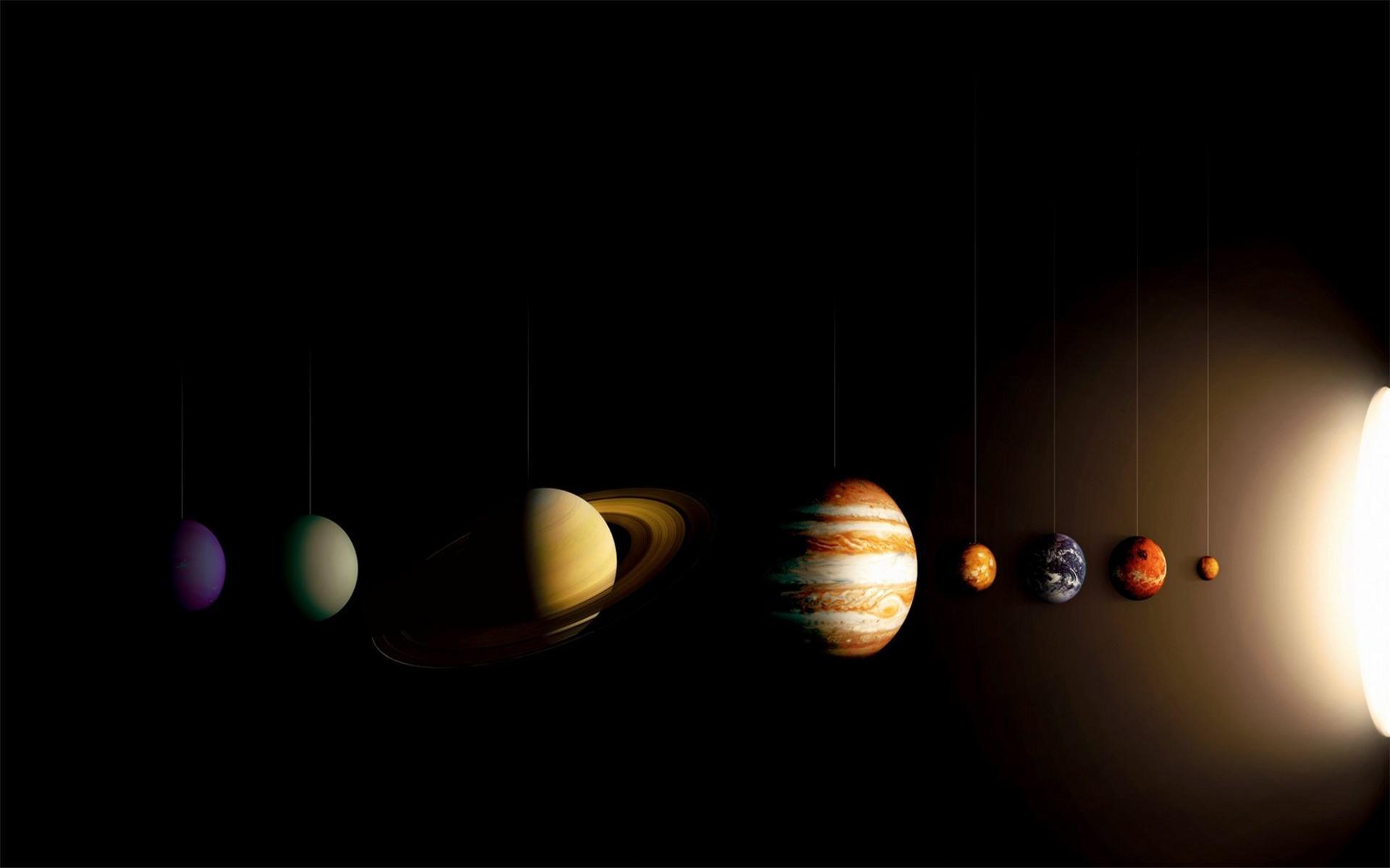 创意太阳系行星桌面图片壁纸