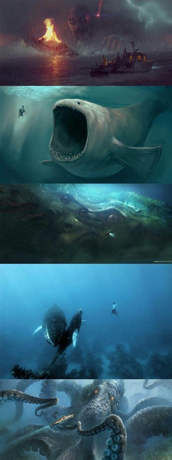 有哪些关于深海或者海怪的图片(越恐怖越诡异越好)?