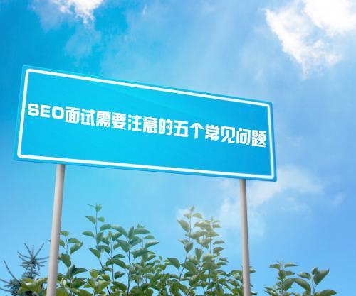 (山东seo)SEO面试需要注意的五个常见问题