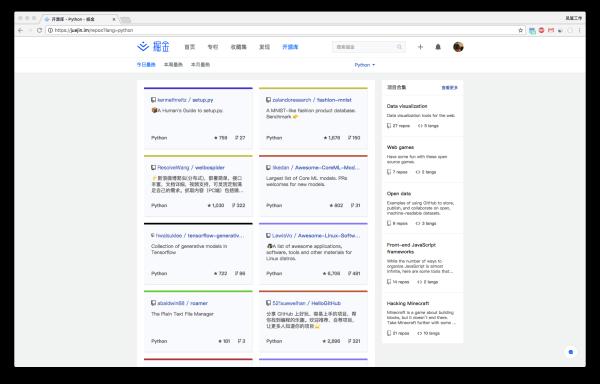 「开源库」功能上线