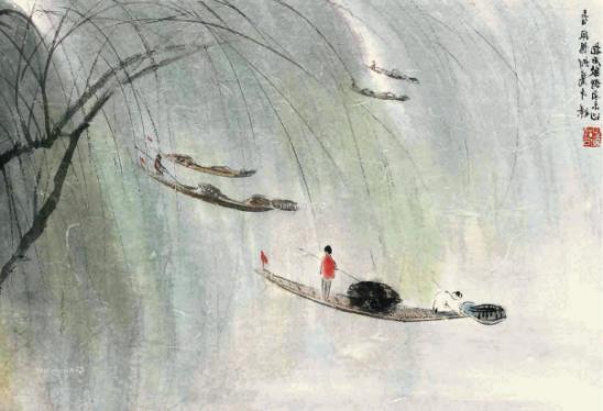 傅抱石山水画代表作_立春:在名画里寻找一棵开满花的树 - 知乎