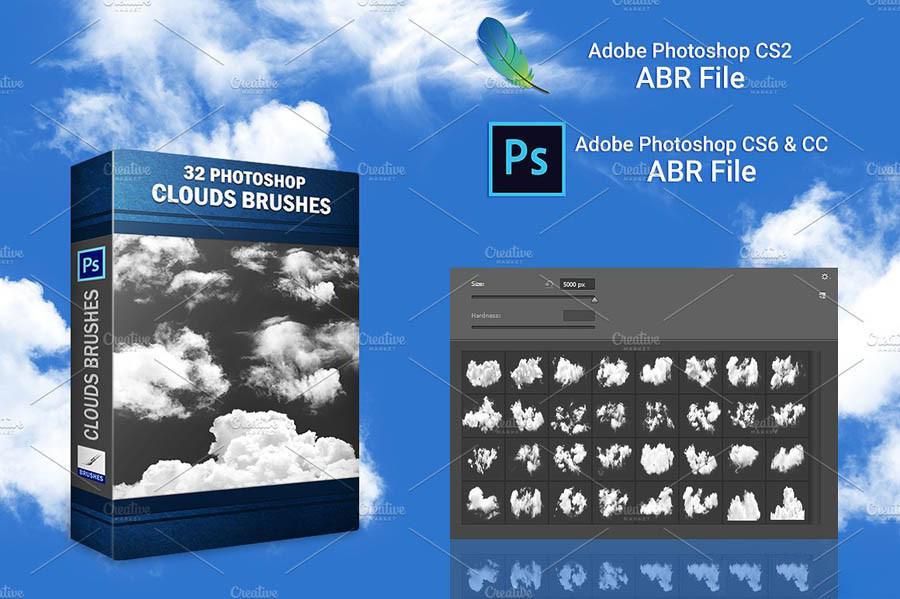 【S450】高分辨率白云云彩笔刷 Clouds Brushes