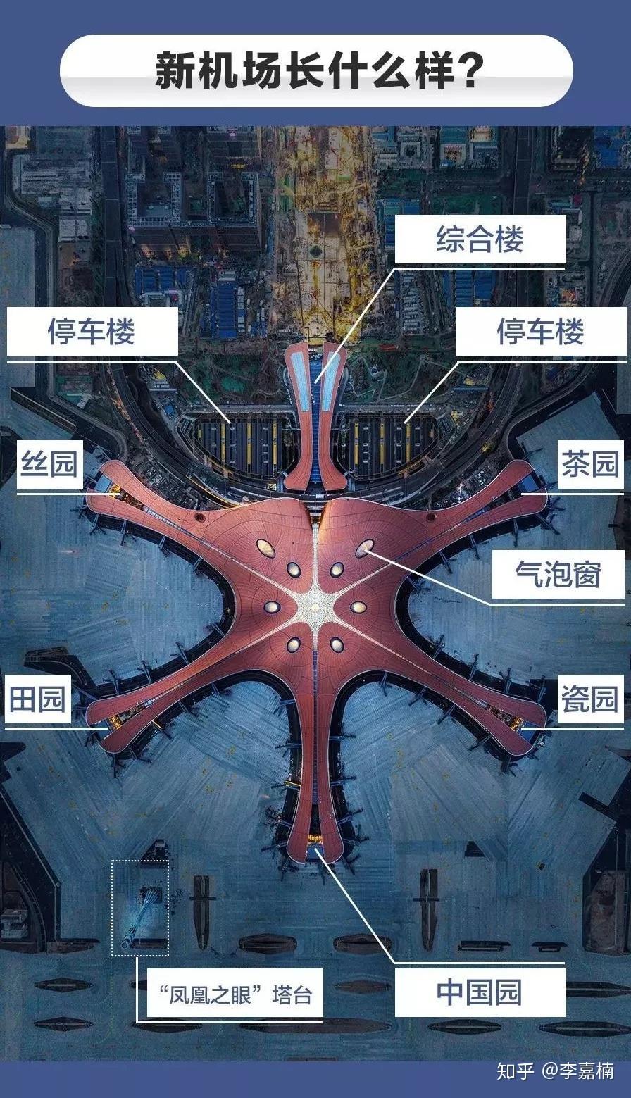 规划功能结构图_北京大兴机场最新全貌+平面设计图 - 知乎