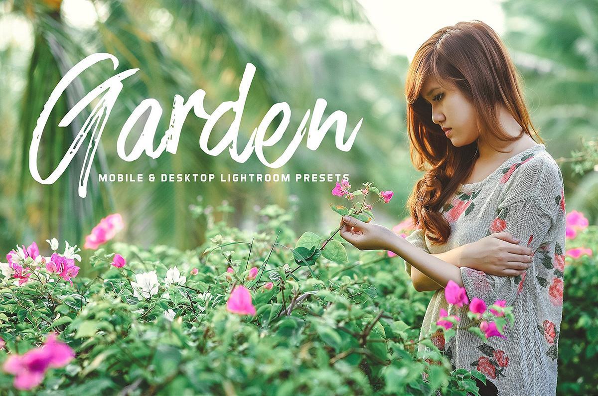 【S609】公园草地户外自然光人像摄影LR预设 Creativetacos Garden Lightroom Presets